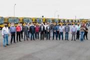 Governo do Estado entrega mais 40 ônibus novos para o transporte escolar