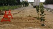 Casa realiza serviço em rua de Içara e sinaliza buraco