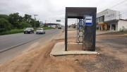 Novas paradas de ônibus são instaladas na Rodovia SC-445 em Içara