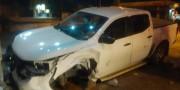 PM persegue ladrões na SC-445 e recupera caminhonete Nissan