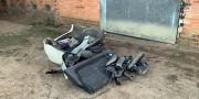 Polícia Militar de Içara encontra dois veículos furtados em desmanche