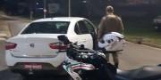 Ladrão é detido após roubar táxi e atingir  pedestre no Bairro Presidente Vargas