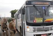 PM fiscaliza o cumprimento das normas nos ônibus em Forquilhinha