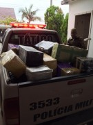 PM de Içara apreende cerca de  900kg de maconha no Bairro Liri
