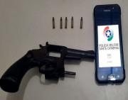 Revólver com munições é apreendido pela Polícia Militar no Centro de Içara
