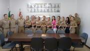 Homenagem a policiais militares no dia Internacional da Mulher