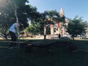 Praça Benjamin Scussel ganha novo colorido