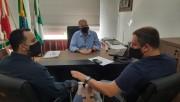 Lideranças do esporte de Urussanga, visitam prefeito Gustavo Cancelier