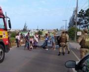 Corte de ligações de energia irregulares geram protesto em Bal.R