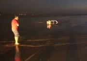 Motorista desatento cai em Torneiro no limite entre Rincão