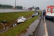 Acidente provoca saída de pista e feridos na BR-101