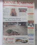Jornal Içarense registra os 24 anos de história em Içara