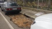 Comerciantes de Içara estão reclamando de buracos nos acostamentos