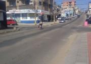 As faixas de pedestres no Centro continuam apagadas