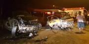 Três pessoas ficam feridas após colisão em Sanga Funda