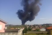 Corpo de Bombeiros identifica foco de incêndio em empresa