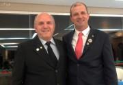 Chimba e Márcio assumiram as presidências do Rotary Clube Lions