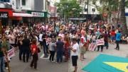 Servidores de Içara e de Rincão participam de manifesto