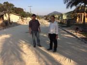 Pavimentação da rua em Jacinto Machado, finaliza esta semana