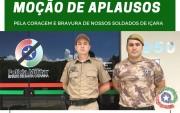 Alesc aprova Moção de Aplausos para soldados militares de Içara