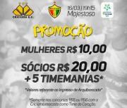 Promoção de ingressos para jogo do Criciúma contra Brusque