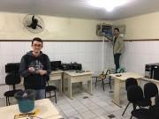 Laboratório de escola pública é restaurado por acadêmicos da Satc