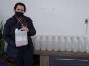 Secretaria de Saúde recebe doação de álcool do Grupo Bellunesi