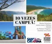 SC recebe pela 10ª vez título de melhor Estado do Brasil para viajar