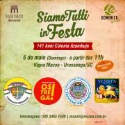 """Atrações confirmadas para o """"Siamo Tutti in Festa"""""""