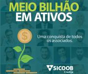 Sicoob Credija conquista meio bilhão em ativos