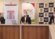 TCE/SC, MPSC e Polícia Civil detalham operação da compra de respiradores