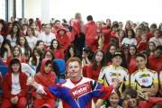 Ciclista Marco Aurélio ministra aos alunos içarenses