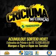Timemania acumulada em R$ 10 milhões