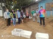 Unibave realiza doações de alimentos da Horta Agroecológica em Orleans