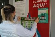 Distribuição de material informativo é positiva no comércio de Urussanga