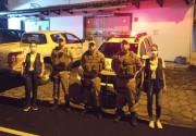 Vigilância Sanitária e PM realizam ação orientando sobre a covid-19 em Urussanga