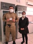 Policiais militares do Município de Içara recebem vacina contra Covid-19
