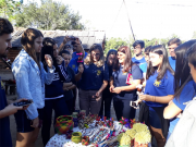 Alunos fazem intercâmbio cultural com aldeia indígena