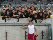 Garotos do Sub-13 do Tigre assistem jogo no Maracanã