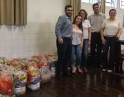 Donativos são entregues após grande arrecadação de Jogo Solidário