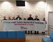 Protestos dos bancários contra mudanças na Cassi e no Saúde Caixa