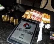 Homem é preso com cocaína, maconha e revólver, em Rincão