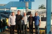 Zé Zanolli e Márcio Dalmolim acompanham Murialdo em visita