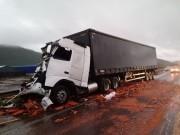 Acidente deixa trânsito congestionado na BR-101 em Imbituba
