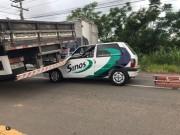 Acidente envolvendo caminhão é registrado na SC-445