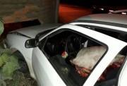 Dupla é flagrada com boi abatido em veículo em Tubarão