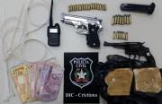 DIC esclarece latrocínio e apreende armas e drogas