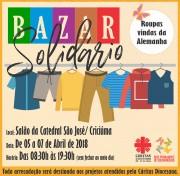 Cáritas de Criciúma realiza Bazar Solidário