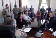 Reunião sobre segurança pública com o comandante-geral da PM