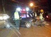 Bombeiros atendem colisão entre dois veículos em Jaguaruna